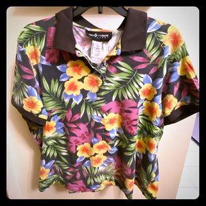 Hawaiian style polo shirt